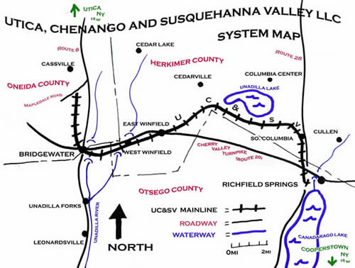 Map of the Richfield Springs branch.